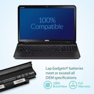 Laptop Battery for Dell J1KND Inspiron N5110 N7110 N5050 N7010 N5010 N4110 N4010 N5040 N5030 M5030 3520 15R 17R Vostro 1540 3750 3550 312-1201 312-0234 -