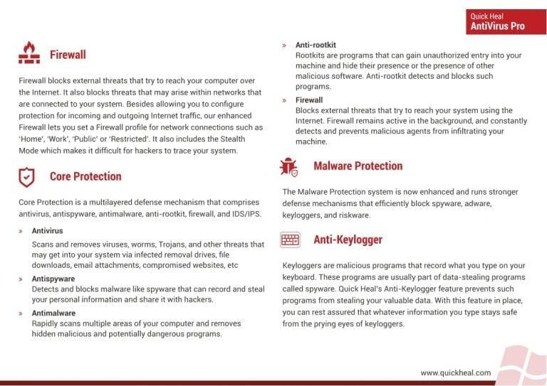 Quick heal Antivirus pro anitvirus 1 pc for 1 year Renewal (key only)