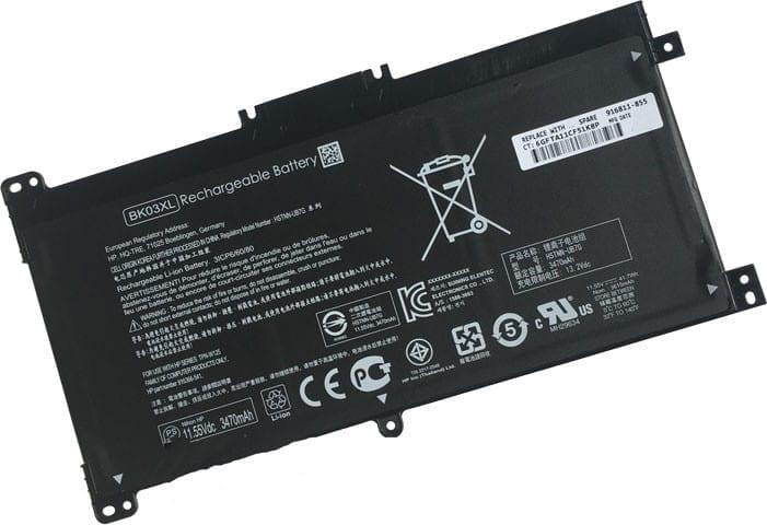 Battery for HP BK03XL (41 7Wh, 3 cells) Pavilion X360 14-BA series, X360  14m-BA