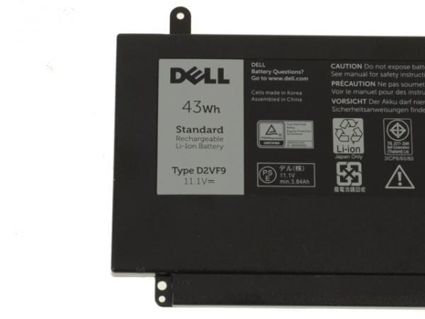 Dell Original Inspiron 15 (7547) / 15 (7548) Vostro 5459 43Wh 3-cell Laptop Battery - D2VF9