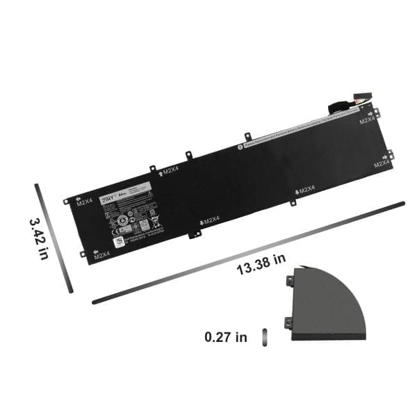 4GVGH Dell Precision 5510 XPS 15 9550 Series laptop battery 84WH 1P6KD 01P6KD 11.4V