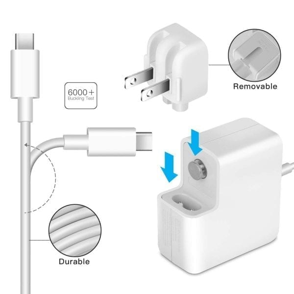 Apple 87W USB-C Power Adapter and USB-C Charge Cable MacBook Pro