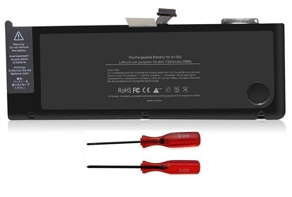 Laptop Battery for Unibody Macbook Pro 15 Inch Core i7 A1286 A1382 (only for Early 2011 Late 2011 Mid 2012)