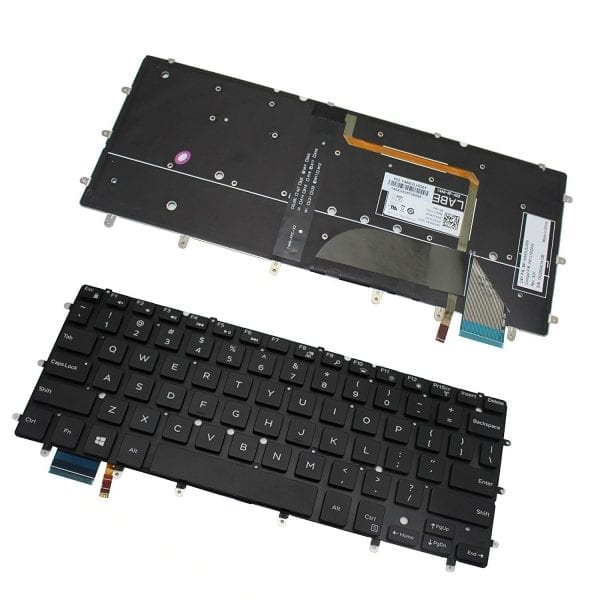 Replacement US Black Backlit Keyboard for Dell Inspiron 13 7347 7348 7352 7353 7359