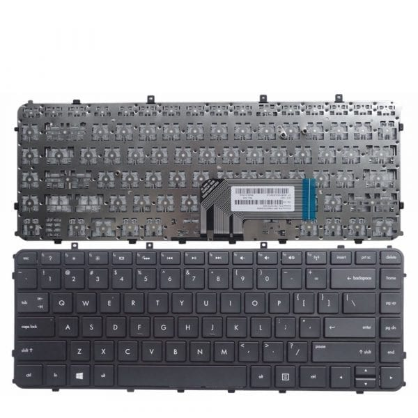 Laptop keyboard with frame compatible with HP ENVY Ultrabook 4-1005xx 4-1015dx H4-1017nr 4-1019wm 4-1030ca 4-1030us 4-1038nr 4-1043cl 4-1050ca 4-1130us, US layout Black color