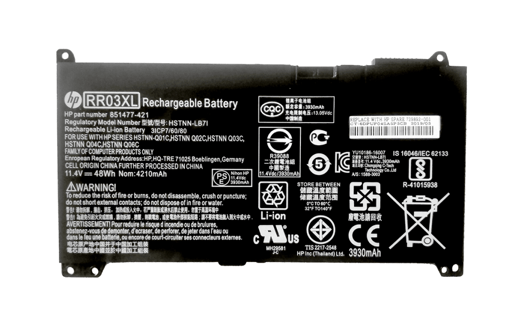 HP RR03XL HSTNN-UB7C Battery for HP ProBook 430 440 450 455 470 G4 G5