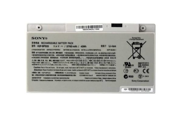 Sony VGP-BPS33 [11.4V 43Wh 3760mAh] Vaio SVT-14 SVT-15 T14 T15 Touchscreen Ultrabooks Series Notebook Black