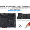 """A1953 Replacement Laptop Battery for Apple Mid 2018 2019 MacBook Pro 15-inch A1990 EMC 3215 EMC 3359 BTO/CTO Battery MacBook Pro 15"""" Touch Bar A1990 Apple A1953 Battery 83.6Wh"""