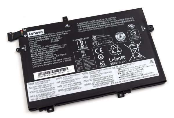 Laptop Battery Replacement for Lenovo ThinkPad L480 L580 Series L17C3P52 SB10K97613 L17L3P52 SB10K97610 01AV463 L17M3P53 SB10K97611 01AV464 L17M3P54 SB10K97612 01AV465 11.1V 45Wh