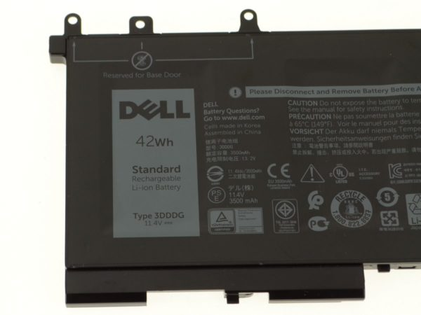 Dell Original Latitude 5480 5580 5280 3 Cell 42wh Laptop Battery 3dddg
